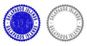 Bolli strutturati di ISOLE GALAPAGOS di lerciume illustrazione vettoriale