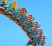 Bolliger & Mobillard Steel Inverted Roller Coaster royalty free stock photo