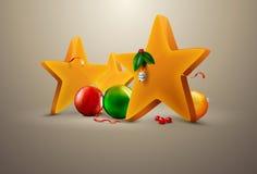 bolljul som dekorerar stjärnor Royaltyfri Foto