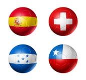 bollkoppen flags världen för gruppH-fotboll Royaltyfri Foto