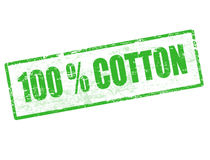 Bollo 100% del cotone Fotografie Stock Libere da Diritti