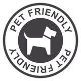 Bollo amichevole dell'animale domestico, nero isolato su fondo bianco, illustrazione di vettore illustrazione vettoriale