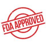 Bollo approvato dalla FDA immagini stock