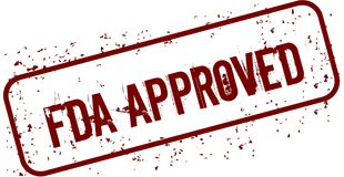 Bollo APPROVATO DALLA FDA afflitto di lerciume Fotografie Stock