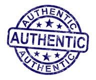 Bollo autentico che mostra prodotto certificato reale Immagine Stock Libera da Diritti