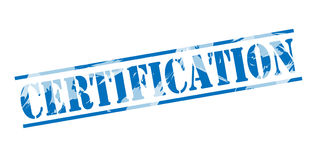 Bollo blu di certificazione fotografie stock