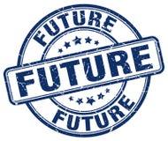 Bollo blu futuro illustrazione di stock