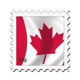 Bollo canadese della bandierina illustrazione di stock