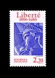 Bollo centennale dell'inaugurazione della statua della libertà fotografia stock
