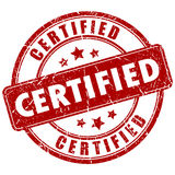 Bollo certificato vettore Fotografia Stock Libera da Diritti