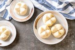 Bollo cocido al vapor - estilo chino foto de archivo