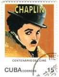 Bollo con Charles Chaplin Fotografie Stock Libere da Diritti