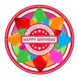 Bollo con i palloni e compleanno del testo il buon royalty illustrazione gratis