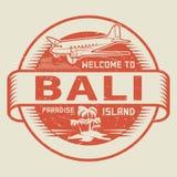 Bollo con il benvenuto del testo a Bali, isola di paradiso Immagini Stock Libere da Diritti
