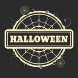 Bollo con il testo di Halloween Immagine Stock Libera da Diritti