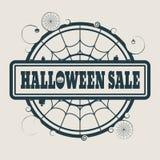 Bollo con il testo di vendita di Halloween Fotografia Stock Libera da Diritti