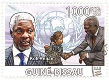 Bollo con Kofi Annan Immagine Stock Libera da Diritti
