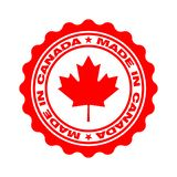 Bollo con testo fatto nel Canada illustrazione di stock