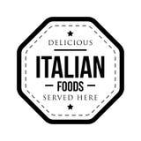 Bollo d'annata degli alimenti italiani deliziosi royalty illustrazione gratis