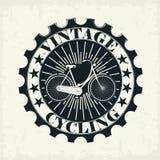Bollo d'annata della bicicletta Fotografia Stock