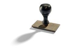 Bollo d'annata della mano dell'ufficio con il cuscinetto di gomma Fotografia Stock Libera da Diritti
