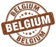 Bollo d'annata rotondo di lerciume di marrone del Belgio Fotografia Stock Libera da Diritti