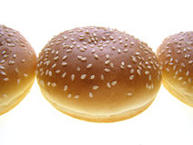 Bollo de la hamburguesa Foto de archivo libre de regalías