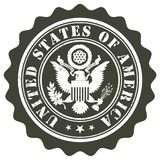 Bollo degli Stati Uniti d'America illustrazione vettoriale