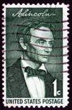 Bollo del Abraham Lincoln dell'annata Fotografia Stock Libera da Diritti