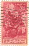 Bollo del Benjamin Franklin Fotografia Stock Libera da Diritti
