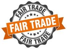Bollo del commercio equo e solidale illustrazione vettoriale