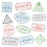 Bollo del passaporto di visto per il viaggio L'immigrazione in Cina, Italia, può royalty illustrazione gratis