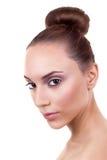 Bollo del pelo de la mujer de Skincare Fotos de archivo libres de regalías