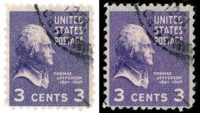 Bollo del Thomas Jefferson Fotografia Stock