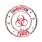 Bollo del virus di calcolatore illustrazione vettoriale