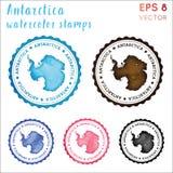 Bollo dell'Antartide illustrazione vettoriale