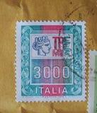 Bollo dell'Italia Fotografie Stock