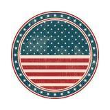 Bollo della bandiera di U.S.A. con il lerciume Illustrazione di vettore illustrazione vettoriale