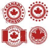 Bollo della bandierina del Canada Immagine Stock Libera da Diritti