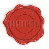 Bollo della cera confidenziale (percorso di ritaglio incluso) Immagini Stock