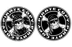Bollo della copia del pirata illustrazione vettoriale