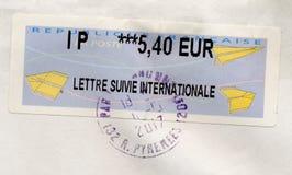 Bollo della Francia Fotografie Stock