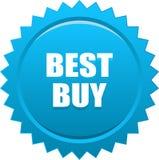 Bollo della guarnizione di Best Buy ciano Fotografia Stock