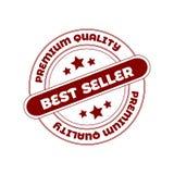 Bollo della guarnizione di vettore: Best-seller Bollo rosso del cerchio Fotografia Stock Libera da Diritti