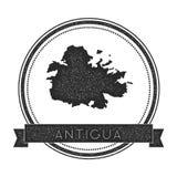 Bollo della mappa dell'Antigua Fotografie Stock