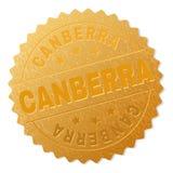 Bollo della medaglia di CANBERRA dell'oro illustrazione vettoriale
