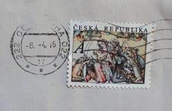 Bollo della repubblica Ceca Fotografie Stock Libere da Diritti