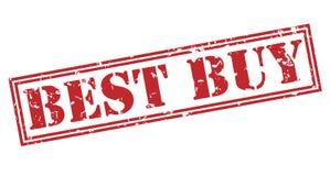 Bollo di Best Buy su fondo bianco Immagine Stock Libera da Diritti
