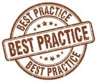 Bollo di best practice Fotografia Stock