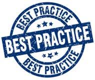 Bollo di best practice Immagini Stock